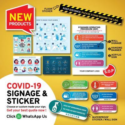 COVID-19 SIGNAGE & STICKER (S.O.P)