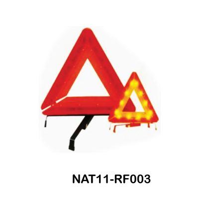 WARNING TRIANGLE WITH LED FLASHING LIGHT