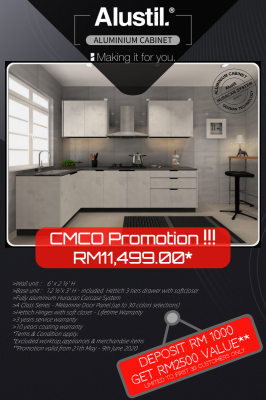 CMCO Promotion! Aluminium Kitchen Cabinet
