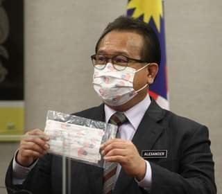 Datuk Alexander Nanta Linggi was seen wearing Durio 532A in press conference earlier today  (14 Aug