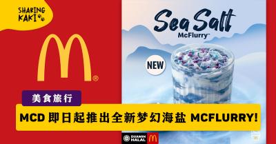 MCD 即日起推出全新梦幻海盐 Sea Salt McFlurry!!