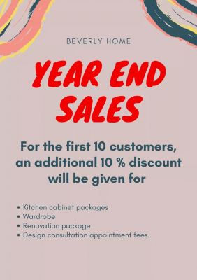 Invitation Card for Year End Sales Event