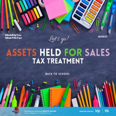 Tax treatment on assets held for sales