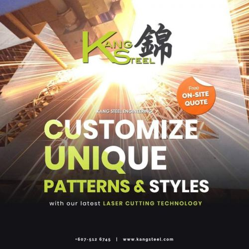 Customize Unique Patterns & Styles with our latest Laser Cutting Technology