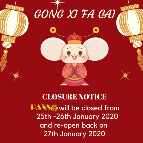 📣 CNY Closure Notice 📢