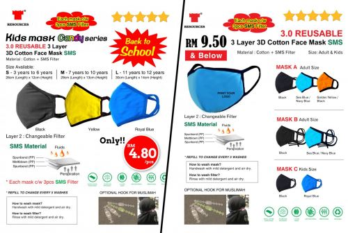 Our HOT ITEM!! Reusable Face Mask for Kids & Adult