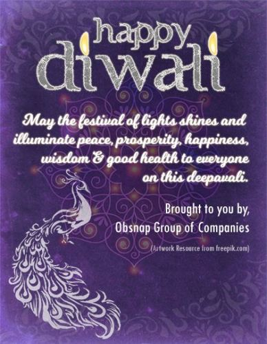 Happy Diwali 2017 from Obsnap Group of Companies