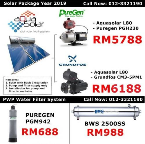 Aquasolar - Solar water heater package price 2019 (BWS)