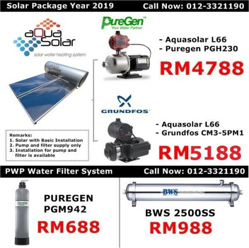 Solar Water Heater Malaysia Promotion Price - Brand Aquasolar