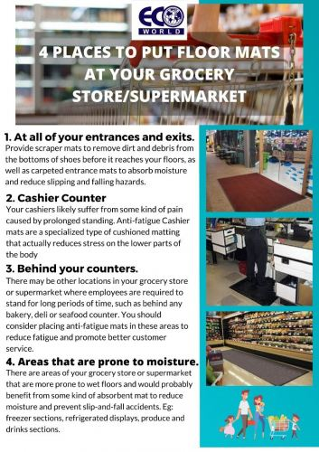 4 Places to put floor mats at your grocery store or supermarket