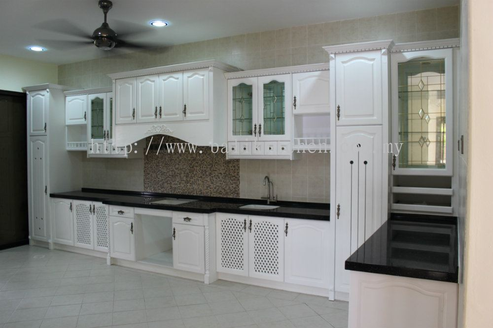 Selangor solid nyatoh from ba li kitchen cabinet for Kitchen set kayu
