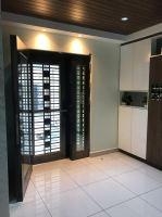 Security Stainless Steel Black Door