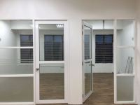 Gypsum board Partition with swing door powder coating@ Puchong