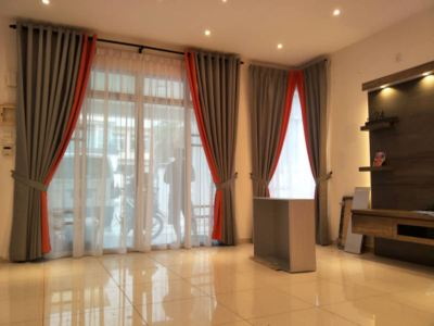 Simple Design with Elegant look Curtain. Have you get your new curtain for the coming Hari Raya?