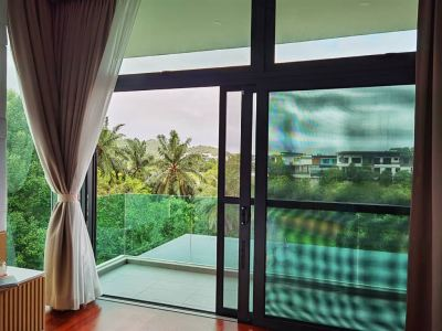 Security Stainless Steel Mosquito Mesh Sliding Door (View from inside)