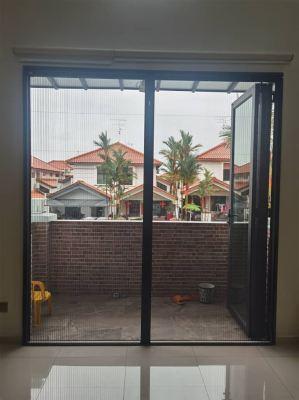 Folding Mosquito Mesh Door (view from inside)