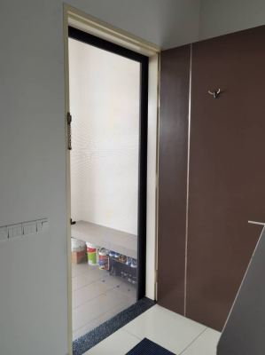 Security Stainless Steel Mosquito Mesh Swing Door (view from inside)