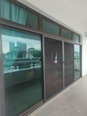 0.6mm Stainless Steel Mosquito Mesh Sliding Door (view from outside)
