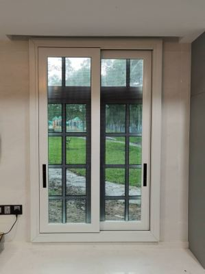 Premium Type Security Stainless Steel Mosquito Wire Mesh Sliding Door (view from inside)