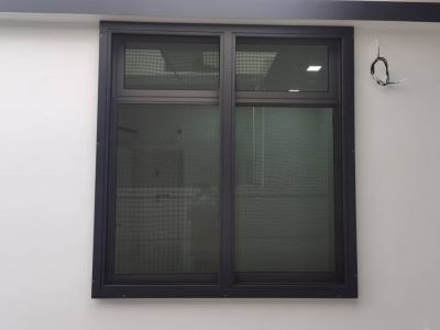 Hight Performance Fixed Security Stainless Steel Mosquito Wire Mesh Window (view from outside)