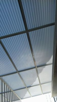 Installation Mild Steel Polycabonate Skylight  at Tiara South