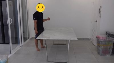 White Marble Dining Table | Piana | Stain Free