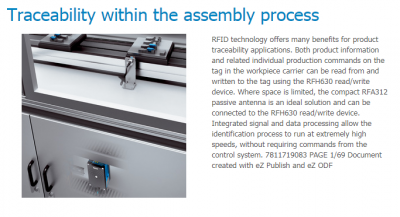 Traceability within the assembly process using SICK RFID technology