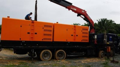 Delivery, Installation, Testing and Commissioning 2 Unit 400KVA Diesel Generator Set Silent Canopy