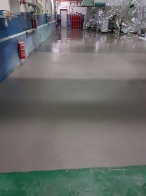 PU MF Flooring System, Printing Plant, Bukit Beruntung