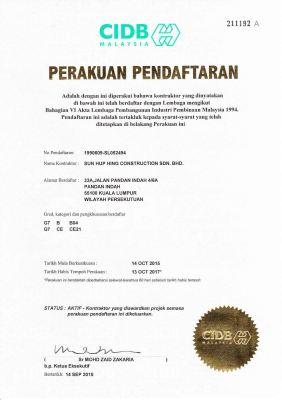 CIDB Certification