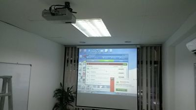 Government Office Projector Setup