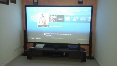 110 inch PS4 Room Setup