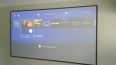 DIY 120inch Screen for PS4 & Benq W1110 Projector