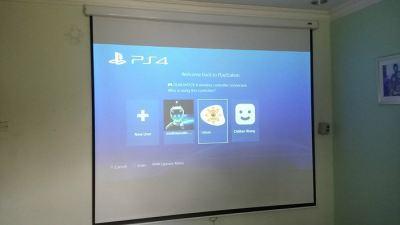 PS4 Bedroom Cinema Installation