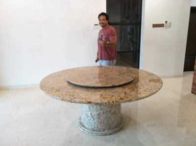 Granite Dining Table From Brazil - Typhoon Bordeaux Granite
