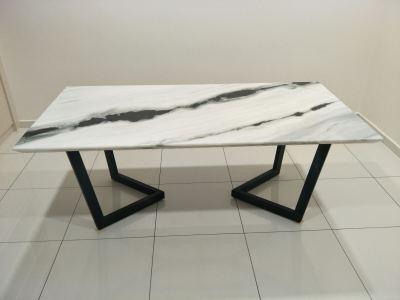 White Marble Dining Table Melaka