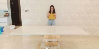 Modern Marble Dining Table From Greece - Sivec White Marble
