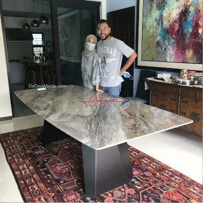 Luxury Dining Table | Arabescato Orobico | 8-10 Seaters | Italian Marble