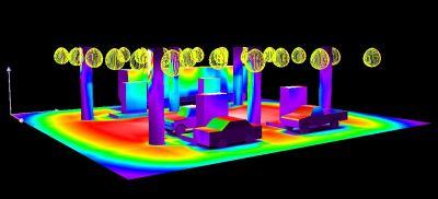 Petrol Station Canopy Light Simulations.