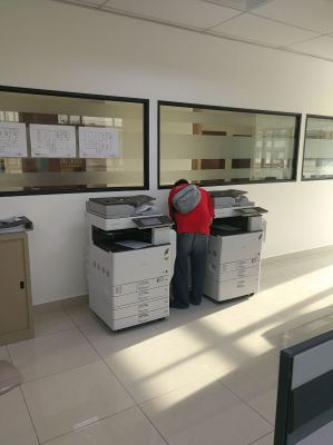 INSTALL TWO UNITS OF NEW COPIER MACHINE AT NEW FACTORY