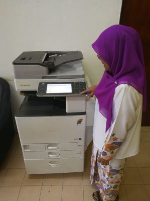 DELIVER AND INSTALL BRAND NEW MACHINE TO OFFICE CUSTOMER