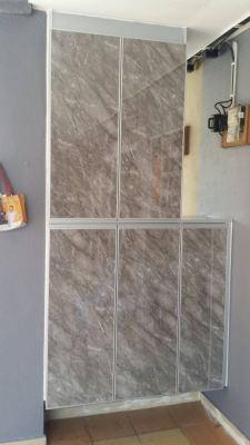 Aluminium Shoe & Toilet Cabinet