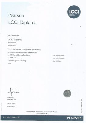 Diploma In Management Accounting
