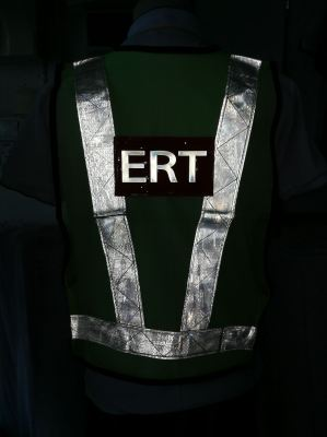 Safety Vest with refletive badge