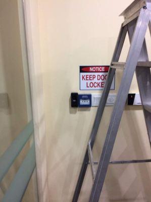 fingerprint access and video intercom wiring instalation job