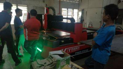 Installation of New Fiber Laser Cutting Machine - 750W IPG