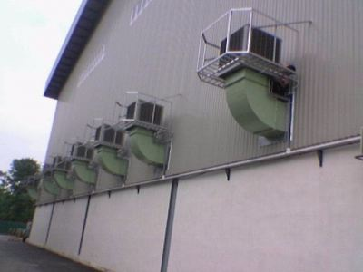 Industrial Air Cooling System Installation