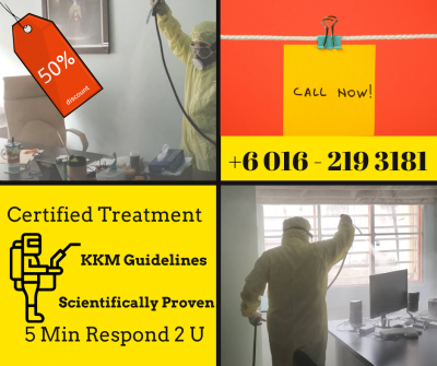 Exclusive Sanitizing & Disinfection In Selangor Under Budget. Call Now