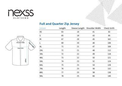Nexss Clothing Size Chart