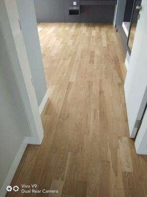 bonshure transspeed HD 2k hardener for white oak timber floor